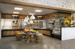 Rendering UNA Tower Hall Bakers Crust