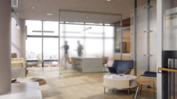 Johns Hopkins Hospital Waiting Area Rendering