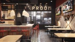 UTD American Tap Room Kitchen Rendering