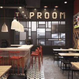 UTD American Tap Room Kitchen Rendering