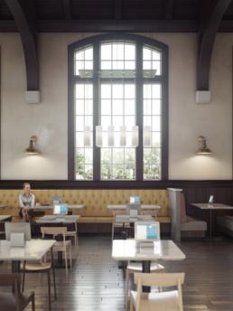 FSU SUWANNEE DINING HALL WINDOW DETAIL RENDERING