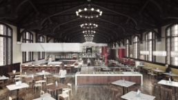 FSU SUWANNEE DINING HALL OVERVIEW 01 RENDERING