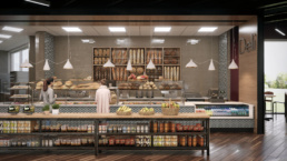 Suny Purchase College Deli Rendering
