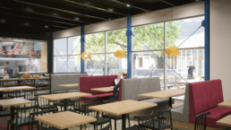 Suny Purchase College Asian Seating Area Rendering