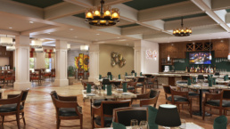 Tuscan Isle - Volterra ChampionsGate Bar Seating Area Rendering
