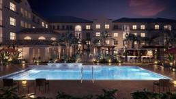 Tuscan Isle - Volterra ChampionsGate Pool Dusk Rendering