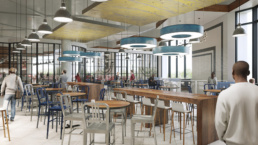 GEORGETOWN UNIVERSITY UPPER FLOOR BISTRO CAPTAINS TABLE RENDERING