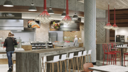 GEORGETOWN UNIVERSITY UPPER FLOOR SUSHI CAPTAINS TABLE RENDERING