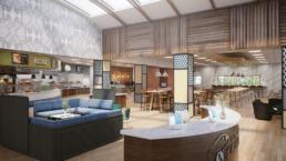 CSU Monterey Bay Interior Rendering Dining Commons